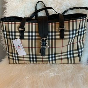 Burberry Diaper Bag/Tote Bag